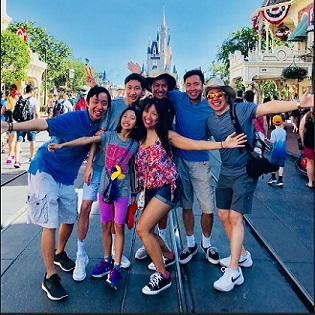 Dr and family at disneyland