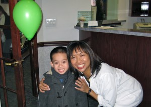 Bergenfield, New Jersey Dentist, Dr. Mariliza Lacap with a happy patient.
