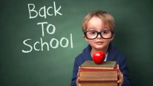 little boy back to school